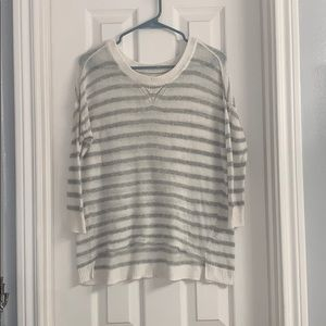 Aerie light knit striped sweater